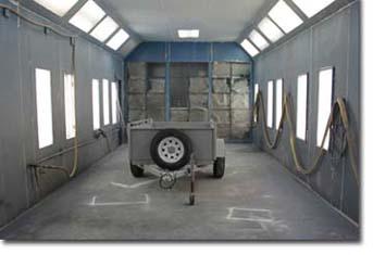 Sablage au jet libre service - Chambre de peinture automobile ...